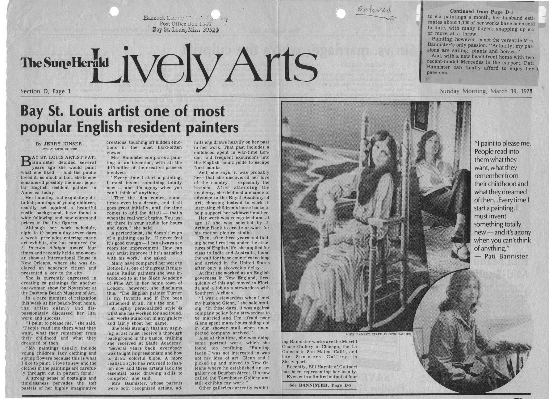 Vertical Files - Bannister, Pati - Sun-Herald-Profile-1978